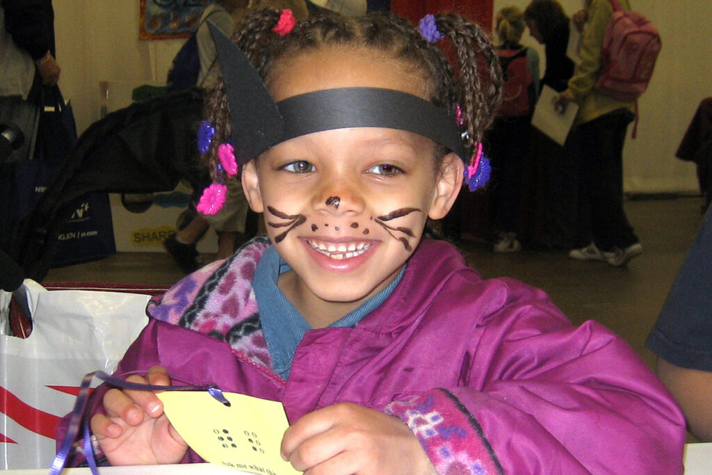 Picture of a young girl at a community event
