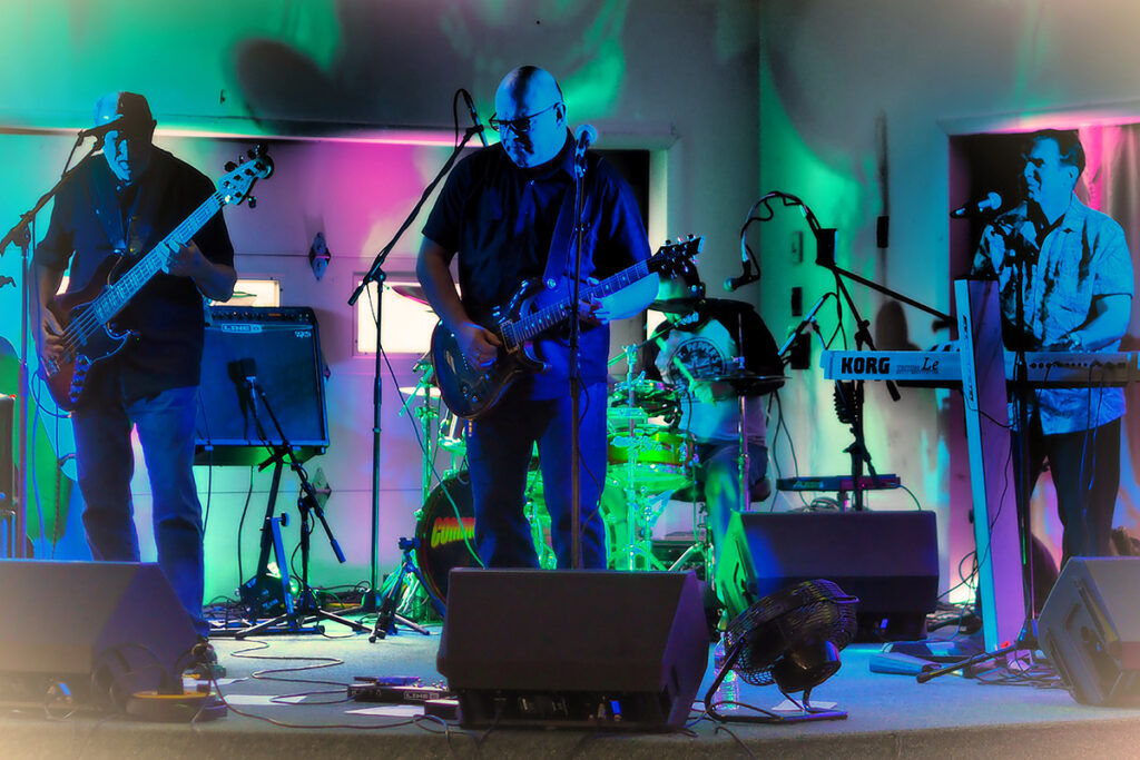 Picture of the band Common Bond as it performs at Songs4Sight 2019