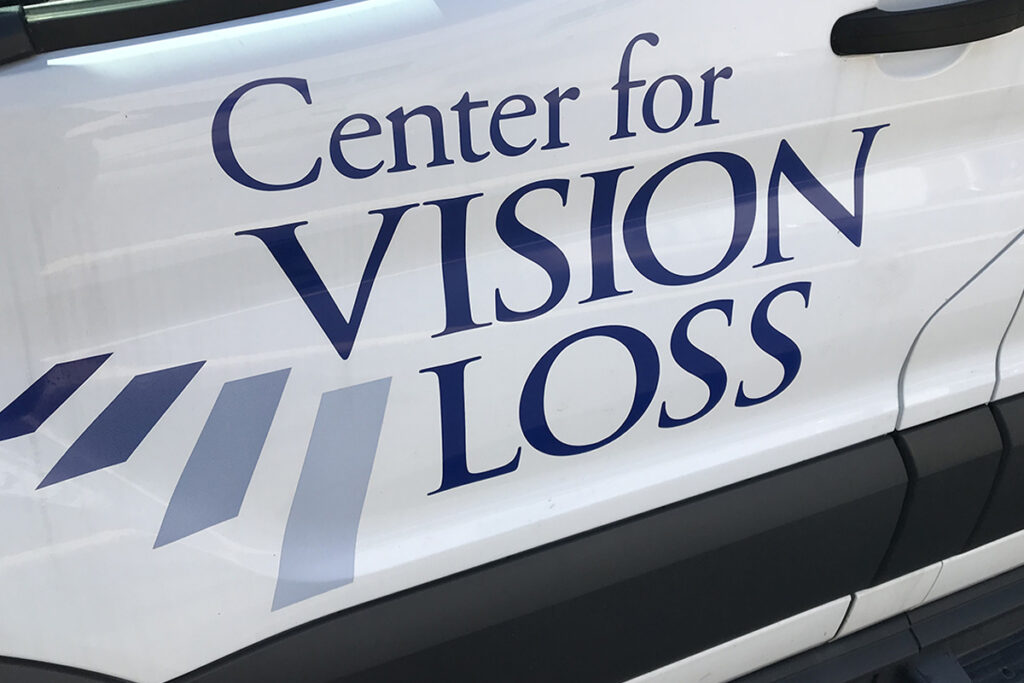 A photo that depicts the Center for Vision Loss logo
