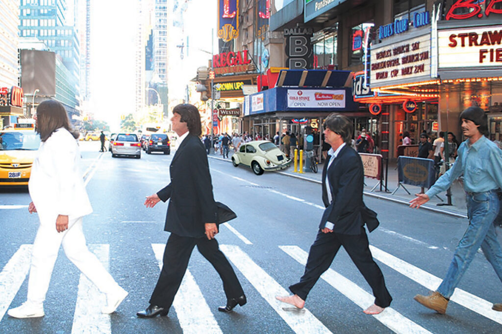 Photo of the members of Strawberry Fields, the world's most renowned Beatles tribute band