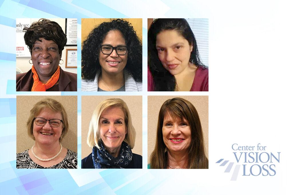 Composite of photos of Teresa Pickett, Yvette Quintero, Lisa Metcalf, Ruth Weber, Nancy Cobb, and Rita Lang