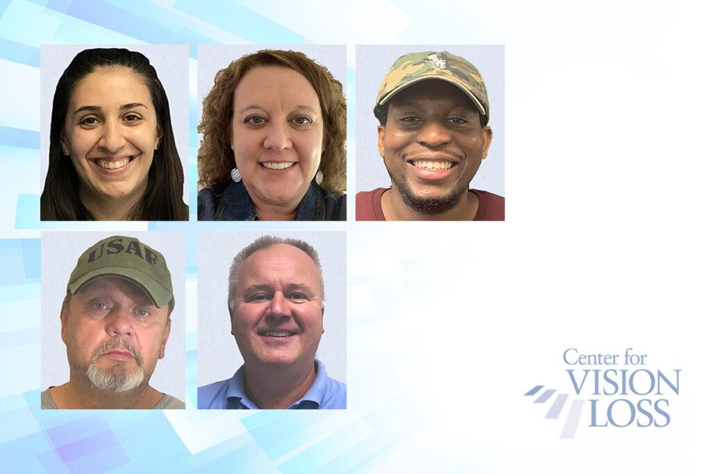 Photos of agency staff members Erica Vibert, Angela Hill, Kareem Harvey, Richard Hubbs, and Les Schoenberger